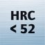 For materials < 52 HRC